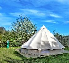 Bell tent glamping in Dorset at DCHE