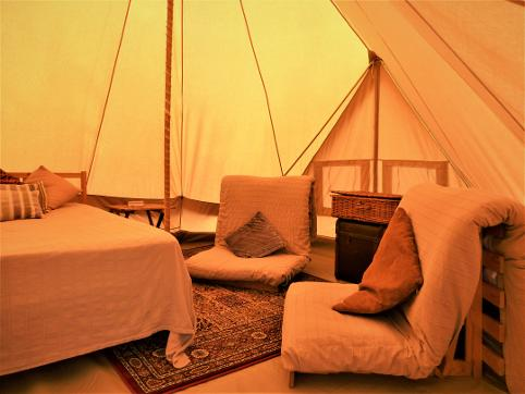 Family glamping sleeps 6 at Dorset Country Holidays