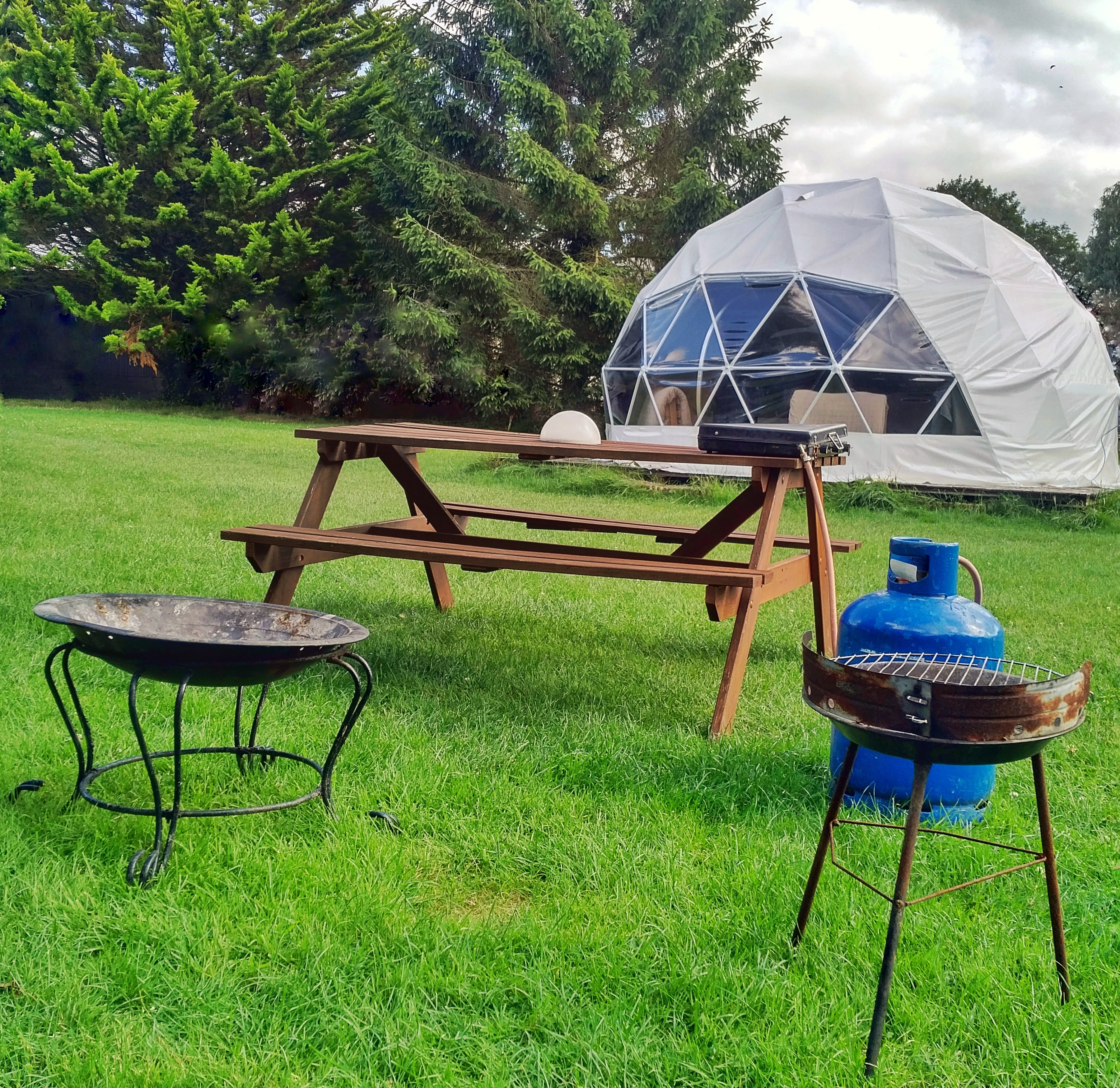 Glamping Dome in Dorset, UK at DCHE