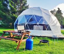 Dome glamping in Dorset