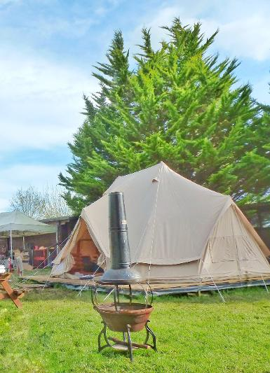 Glamping for a family of 6 in Dorset -Bell tent glamping holiday - glamping dorset - glamping uk, yurt glamping - glamping uk