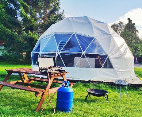 Dome glamping at Dorset Country Holidays