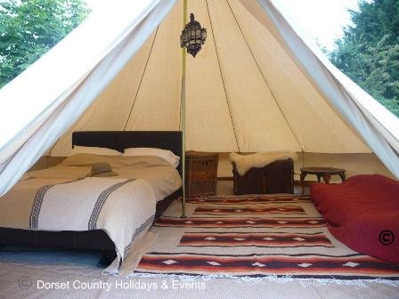 Bell tent luxury glamping holiday
