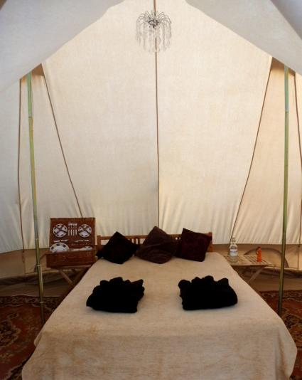 Glamping tent for families of 6 in Dorset