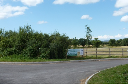 glamping site entrance