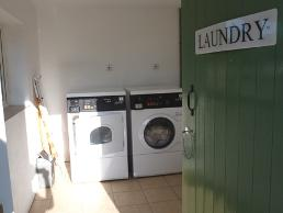 Laundry on the glamping site in Dorset