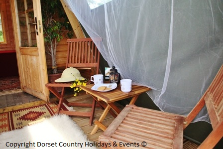glamping safari pod at dche